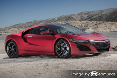 Insurance rates Acura NSX in Las Vegas